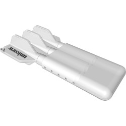 etui slider blanc transparent