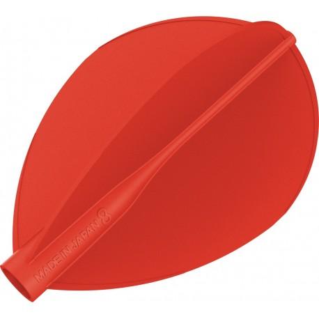 8 flight ailette poire rouge