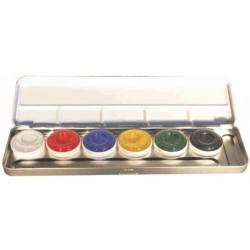 palette 6 couleurs aquacolor
