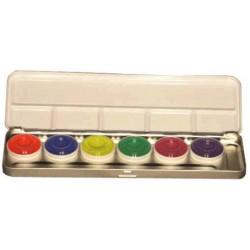 palette 6 couleurs fluo aquacolor