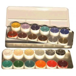 palette 24 couleurs aquacolor