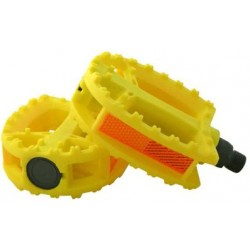 pédales plastiques jaune