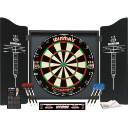 professional darts set noir
